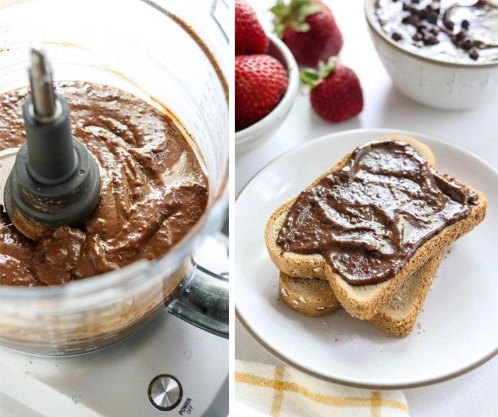 chocolate hummus on toast
