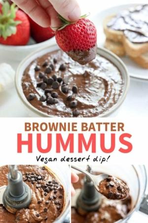brownie batter hummus pin