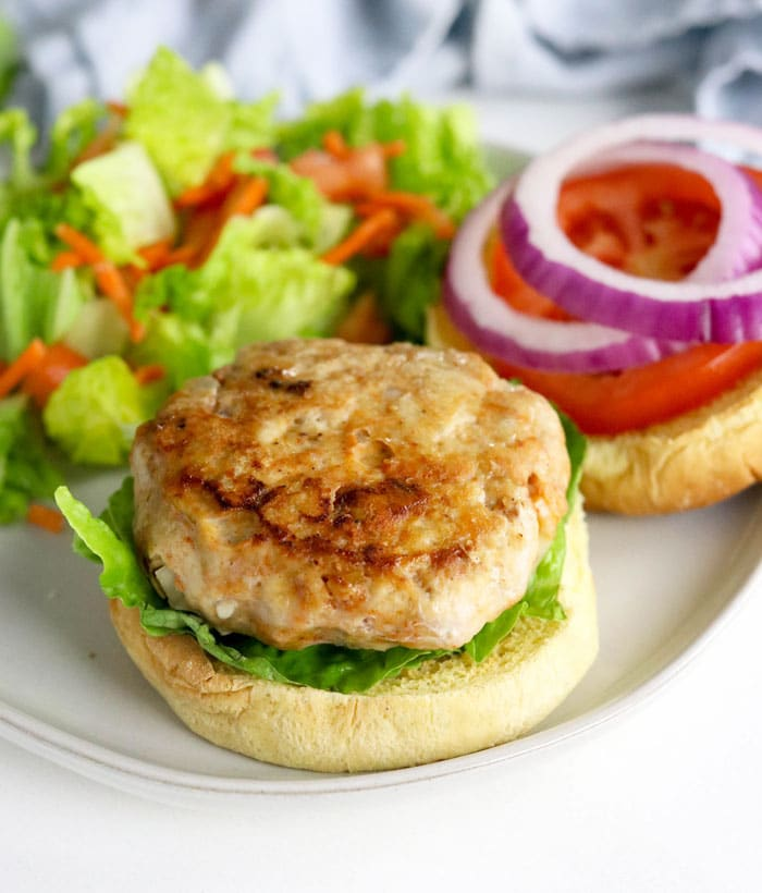 chicken burger with charred top