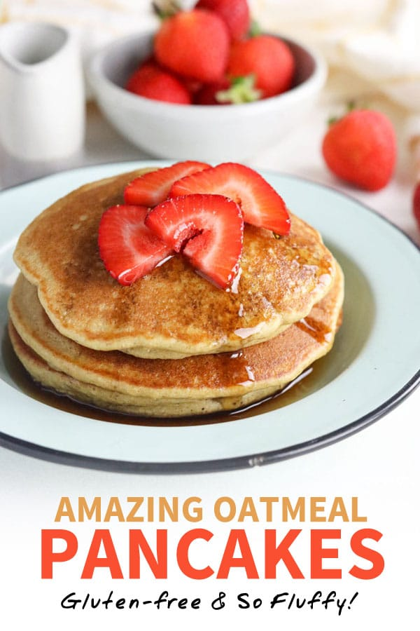 oatmeal pancakes pin