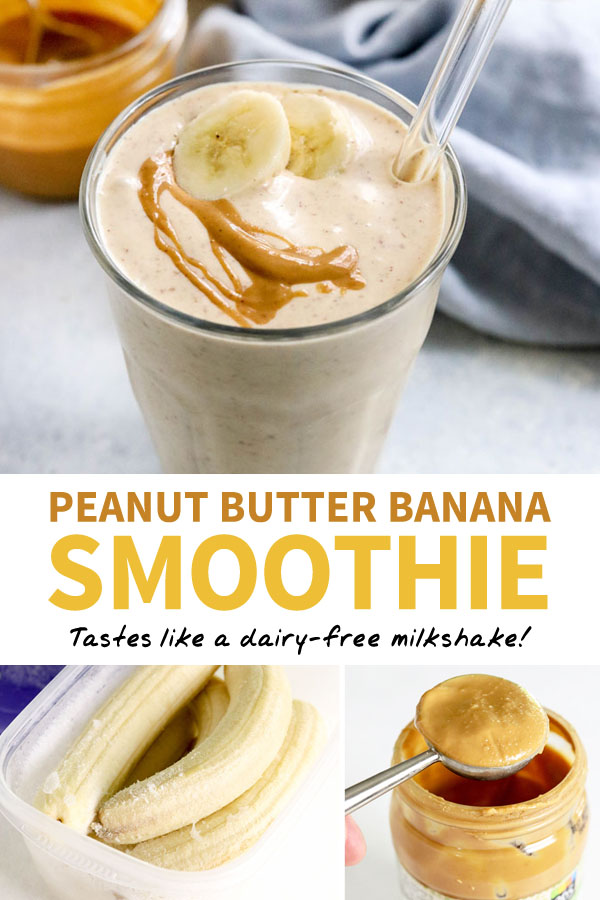 peanut butter banana smoothie pin