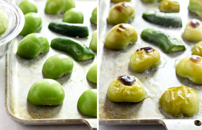 how to roast tomatillos for salsa