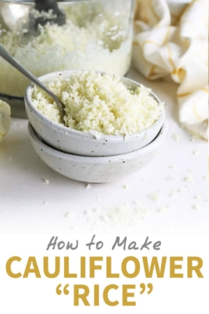 how to make cauliflower rice pin for pinterest