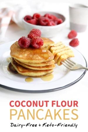 coconut flour pancakes pin