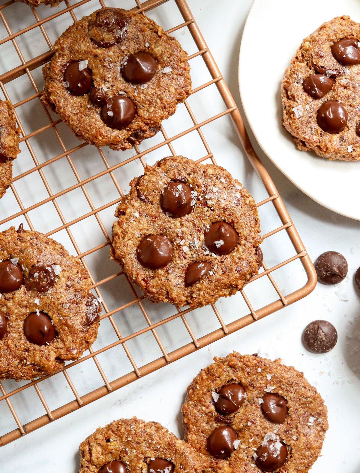 healthy cookies on cooling rack
