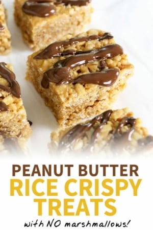 peanut butter rice crispy treats pin