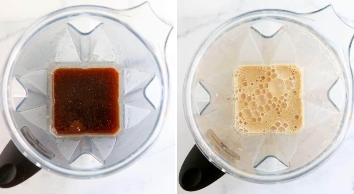 pumpkin spice latte in blender