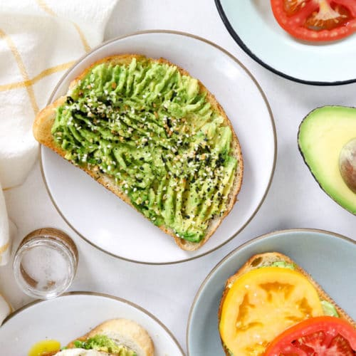 avocado toast with toppings