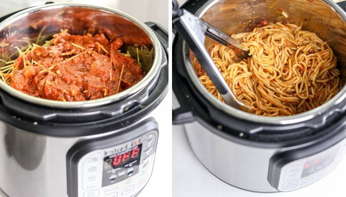 layered instant pot spaghetti noodles