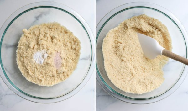 dry ingredients mixed together for almond flour cookies