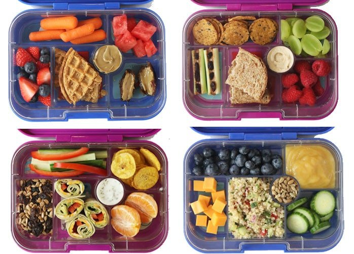 healthy school lunch ideas in bento boxes