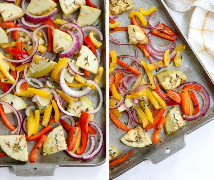 roasted vegetables for ratatouille
