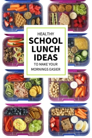 healthy school lunch ideas pin