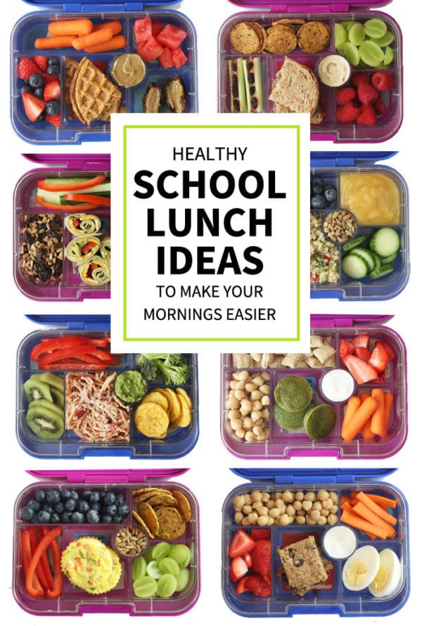 healthy school lunch ideas pin