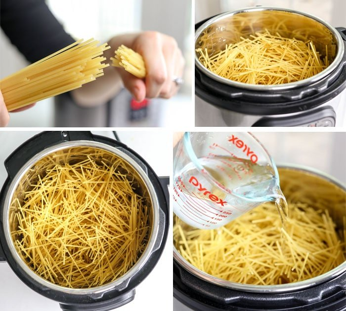 spaghetti noodles in the Instant Pot
