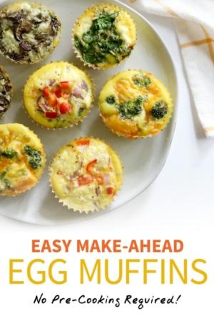 egg muffins pin for pinterest