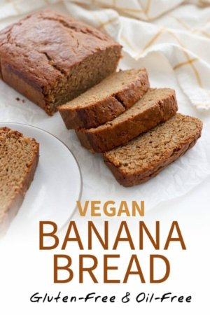vegan banana bread pin