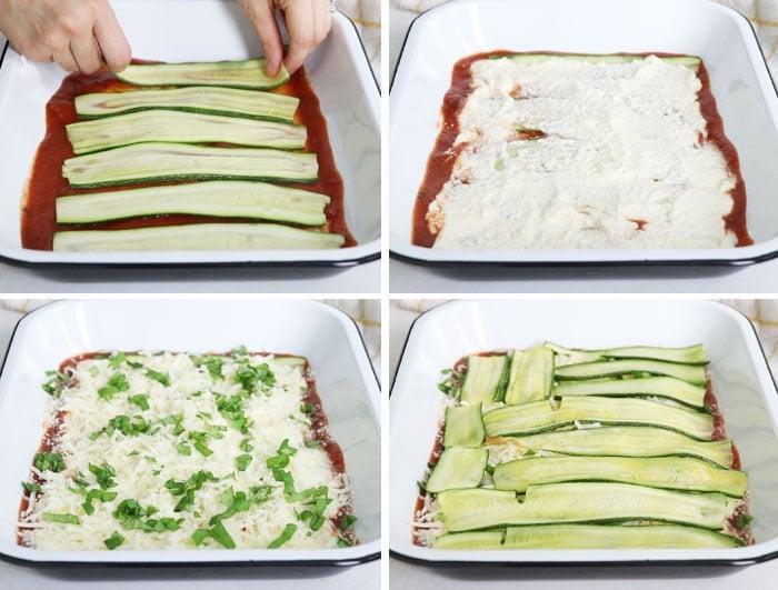 vegetarian zucchini lasagna layers
