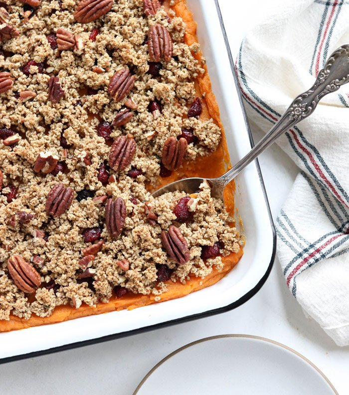 Sweet Potato Casserole with Pecans