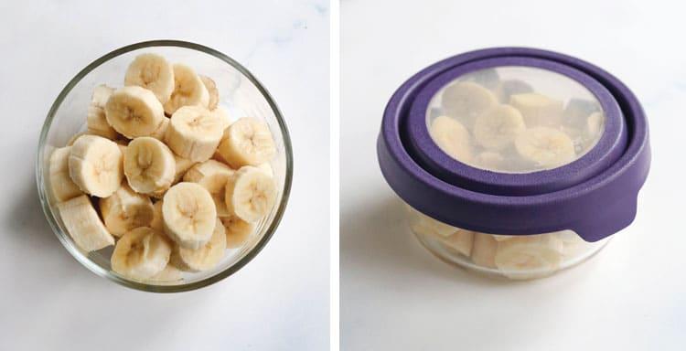 bananas in airtight container