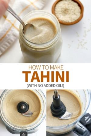tahini pin for pinterest