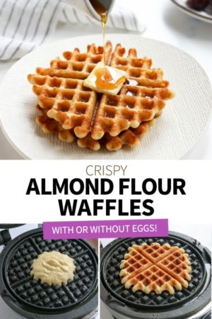almond flour waffles pin for pinterest