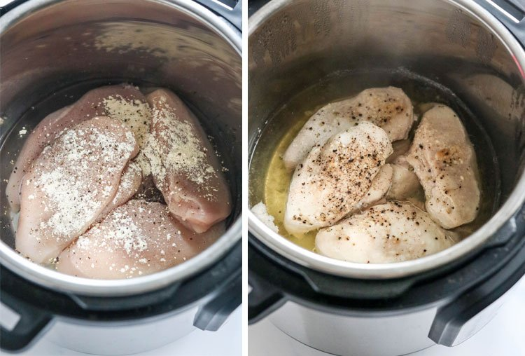 seasoned chicken breasts in Instant pot