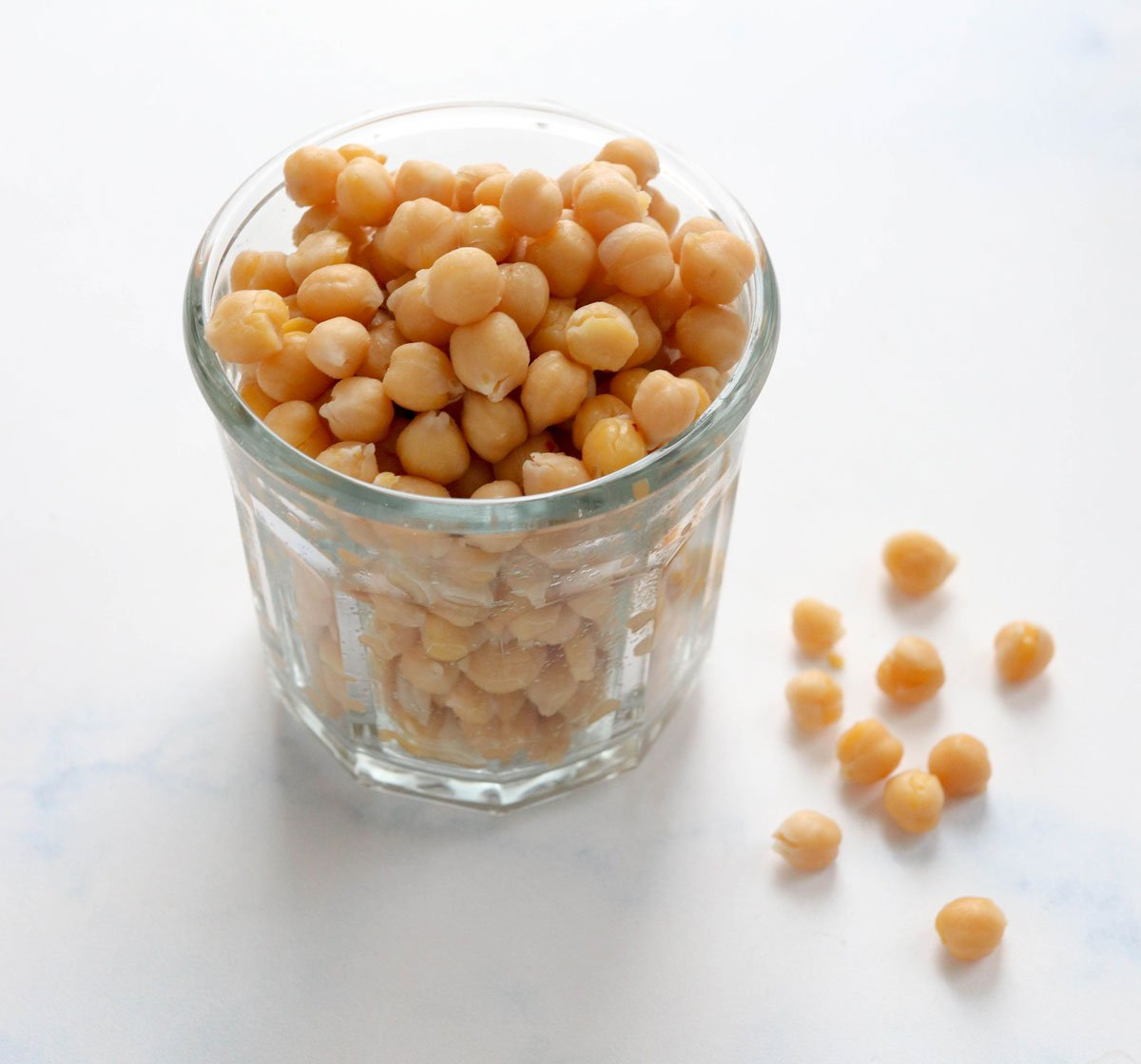 chickpeas in a glass jar