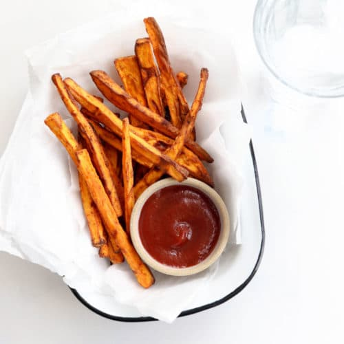 air fryer sweet potato fries with ketchup