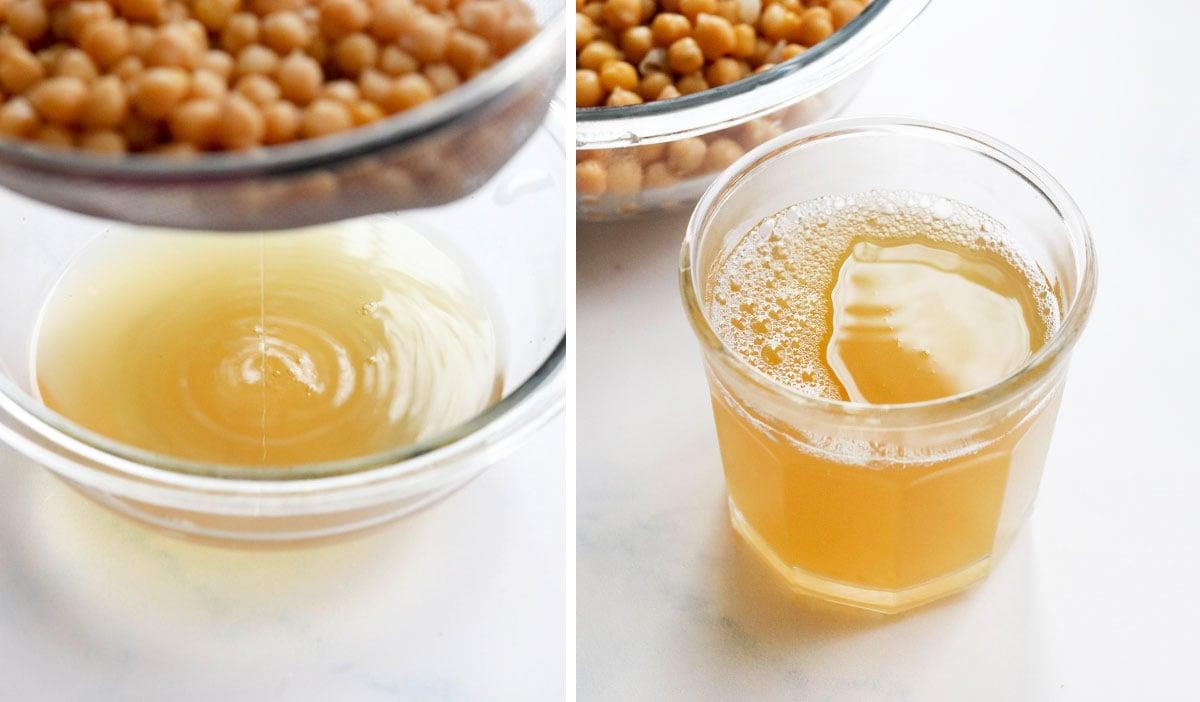 homemade aquafaba in a jar
