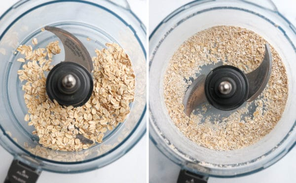 rolled oats pulsed into flour in food processor
