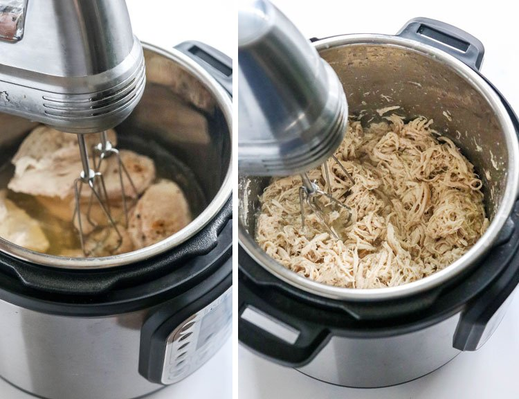 how to shred chicken with hand mixer