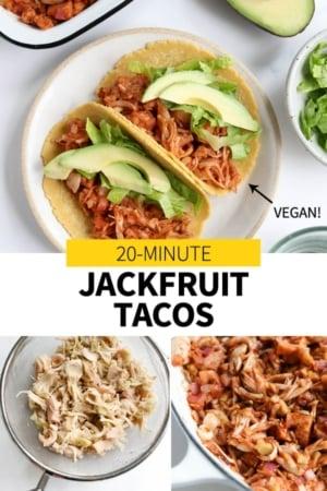 jackfruit taco pin for pinterest