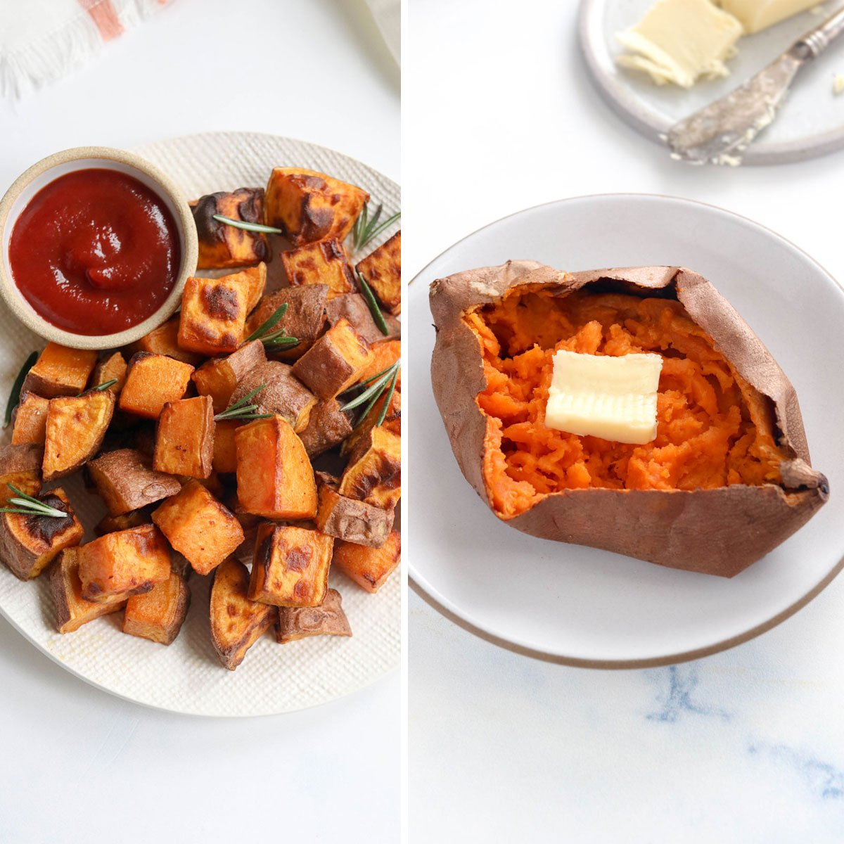 Air Fryer Sweet Potatoes Baked Or Cubed Detoxinista