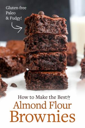 new almond flour brownies pin