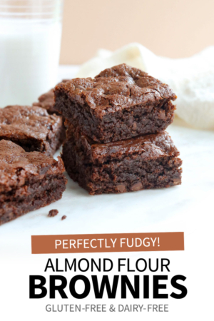 almond flour brownies pin