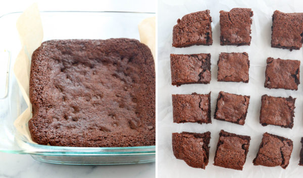 cooled and sliced almond flour brownies