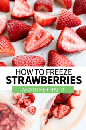 how to freeze strawberries pin