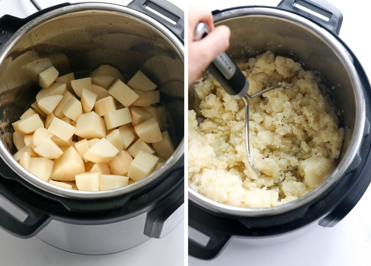 white potatoes in the Instant Pot
