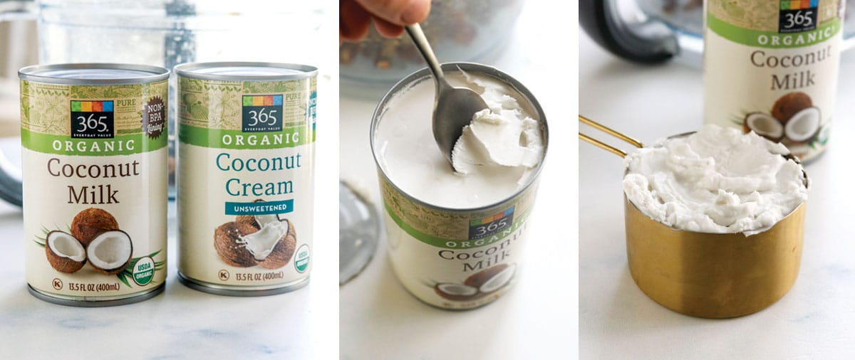 solid coconut cream in a can