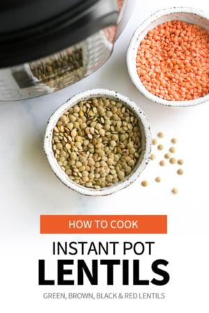 instant pot lentils pin