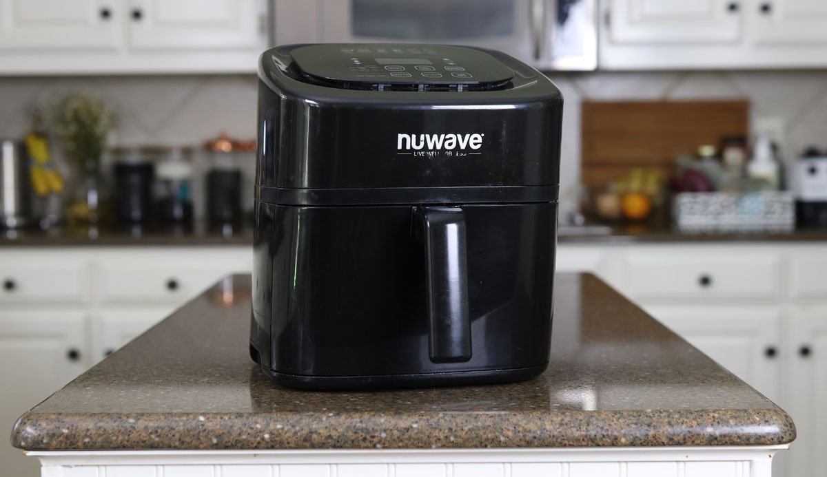 nuwave air fryer sitting on my counter