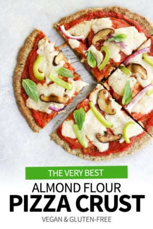 almond flour pizza crust pin for pinterest