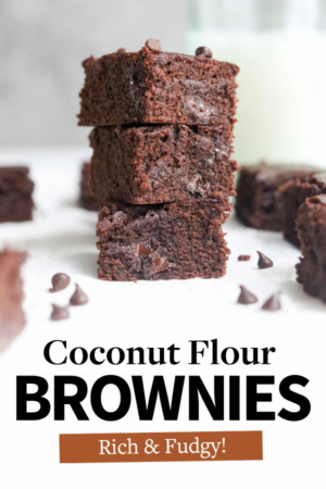 coconut flour brownies pin for pinterest