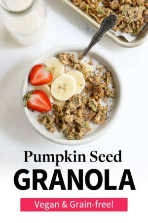 pumpkin seed granola pin for pinterest