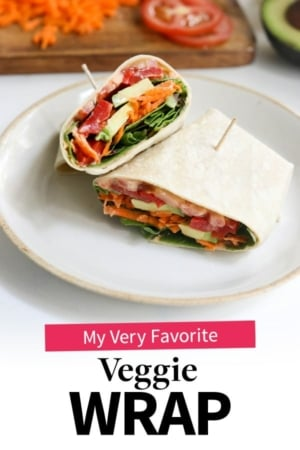 veggie wrap pin for pinterest