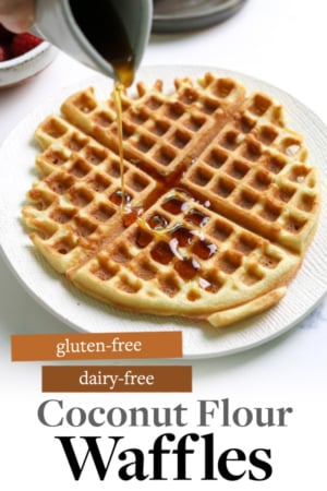 coconut flour waffles pin