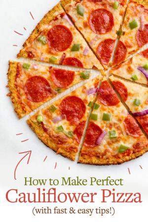 cauliflower pizza pin for pinterest