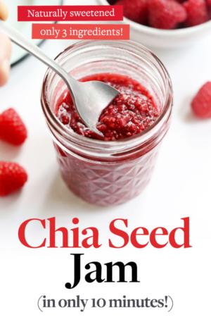 chia seed jam pin for pinterest