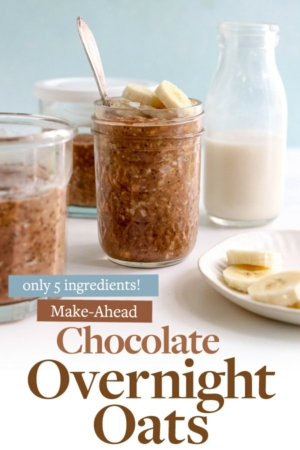chocolate overnight oats pin